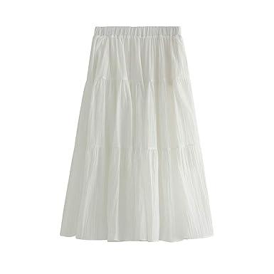 Sylar Faldas Plisadas Falda Larga De Tul De Alta Cintura Elástica ...