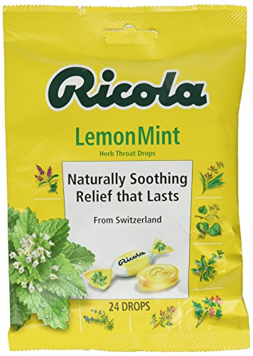 Ricola USA, Inc. Throat Drop, Lemon-Mint, 24-Count (Pack of 6) by Ricola