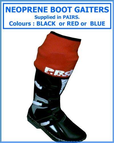 Proline Neoprene Boot Gaiters , Fits Motocross-Enduro-Trials Boots , Supplied In Pairs, Color Black