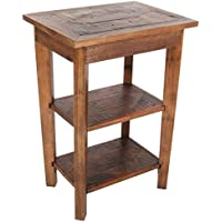 Michael Anthony Redden Reclaimed 2 Shelf End Table