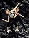 AJISAI Womens Workout Leggings High Waist Tummy Control Yoga Running Pants Non See-Through Fabric