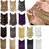 22'/24' Curly Straight Invisible Hidden Wire Synthetic Hair Extensions Secret Wire No Clips Full Head Hairpieces