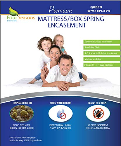 Zippered Queen Size Mattress / Box Spring Encasement (9
