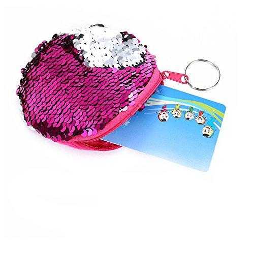 Redondo Bolsa Elegante Fansi Sirena Set Modo De 1 nbsp;pieza Rojo Morado Almacenamiento 10 Bolso Y Simple Lentejuelas Cm q1wRAH
