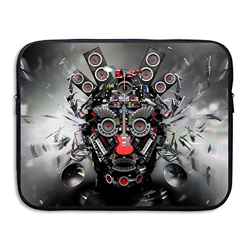 Fonsisi Laptop Storage Bag Cool Abstract Music Head Portable Waterproof Laptop Case Briefcase Sleeve Bags Cover