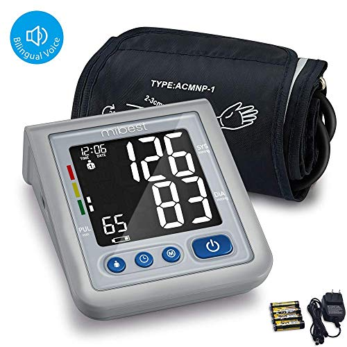 - MIBEST Blood Pressure Monitor with Talking Function - Blood Pressure Cuff with Large Display - 8.7-12.6