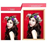 QIANDONG1 Oil Paint Paintings by Numbers Personality Photo Customized DIY Picture Drawing by Numbers Canvas Coloring by Numbers Acrylic,Framed,50x50cm