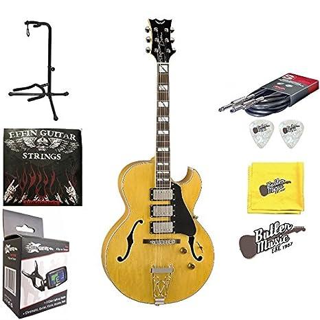 Dean Palomino Trifecta un Jazz estilo guitarra eléctrica w/soporte, cuerdas y más: Amazon.es: Instrumentos musicales