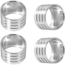 Blake And Croft Napkin Rings - Chrome Colored - 36 Rings