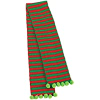 """Amscan Fun-Filled Christmas and Holiday Party Child Elf Sequin Scarf (1 Piece), 40"""" X 5"""", Red/Green"""