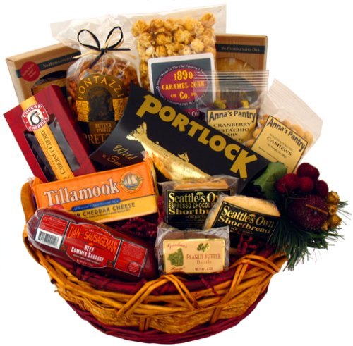 Delightful Snack Gift Basket - Northwest Basket Wine