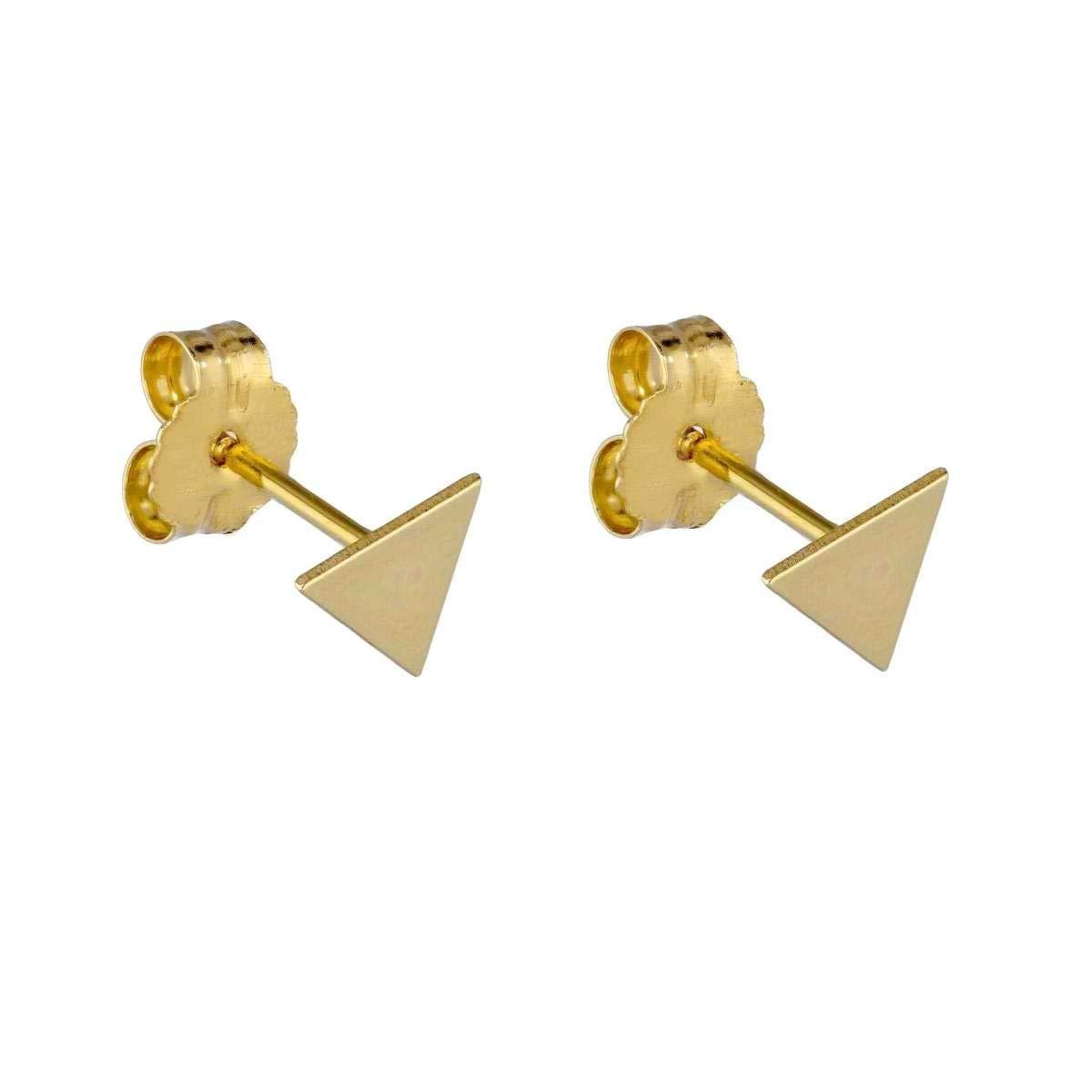 Geometric Studs Triangle Stud Earrings Polymer Clay Earrings Polymer Clay Stud Large Triangle Stud Geometric Stud Earrings