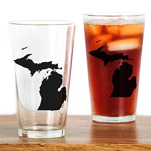 CafePress - Michigan Map Drinking Glass - Pint Glass, 16 oz. Drinking Glass