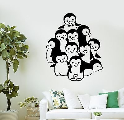 (Wall Decal Cute Penguins Zoo for Kids Room Decor Art Vinyl Stickers VS2943 )