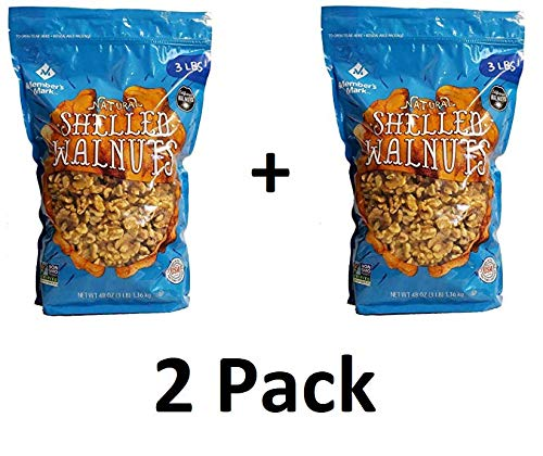 An Item of Member's Mark Natural Shelled Walnuts (3 lbs.) - Pack of 2 - Bulk Disc by Member's Mark