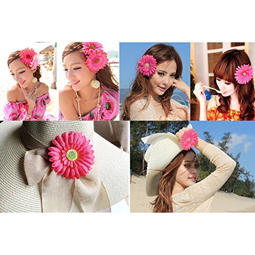 La Babite Women's Big Beach Cap Bowknot Straw Hat Wide Brim Floppy Foldable Roll up Sun Hat UPF 50+