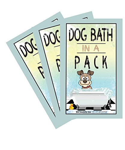 DOG BATH IN A PACKNEW Bath and Grooming Moist Wipes - 48 Individual Packs Per OrderON SALE by Good Dog Wipes