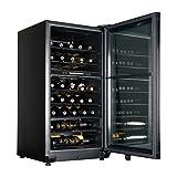 Appliances : Haier HVFE040BBB 40-Bottle Dual-Zone Free Standing Wine Chiller