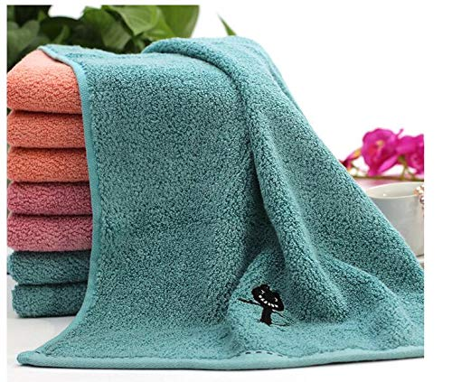 10pcs/lot! Black Cat Pattern Bamboo Fiber Towel Thicken Cotton Towel for Bath &Beach & Gym Use 3474cm by TT&QQ (Image #3)