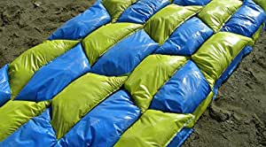 Sand Bags - The Better Sand Bag, 100 Pack - Solid Poly, Wide Mouth Easy Fill, Uses Less Sand, Interlocks for Strength
