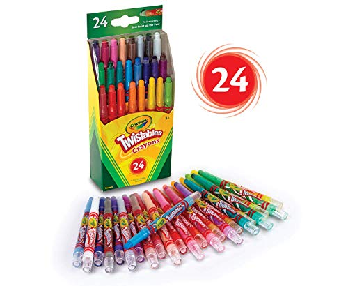 Crayola Twistables Crayons Coloring Set, Kids Indoor Activities at Home, 24 Count
