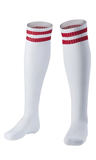 in stock undefeated x big discount Amazon.com: Compression Football Socks Knee High Striped ...