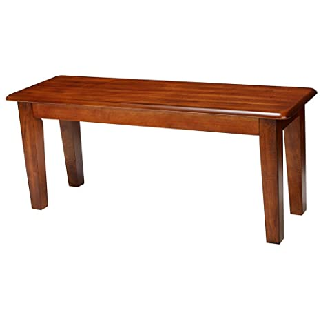 Outstanding Amazon Com Dining Bench Farmhouse Rustic For Narrow Entry Caraccident5 Cool Chair Designs And Ideas Caraccident5Info