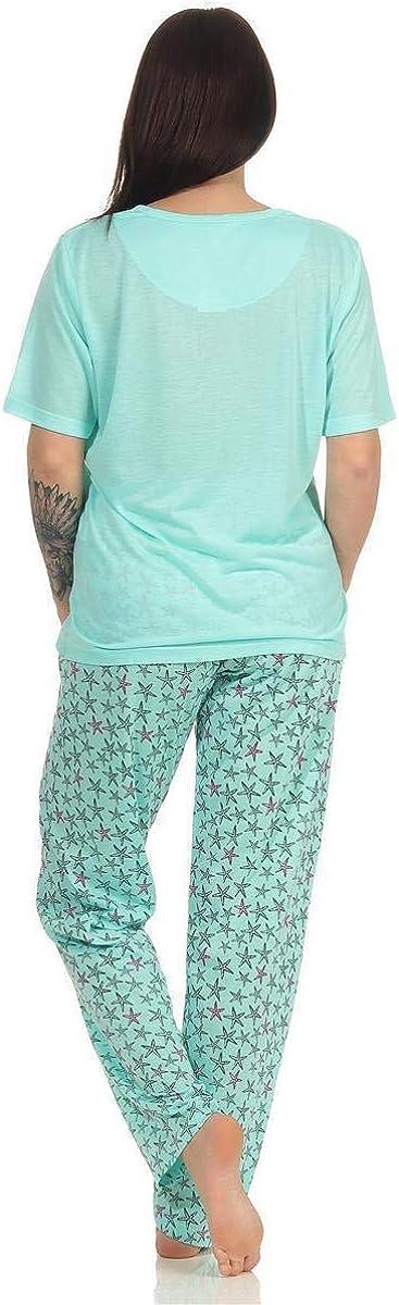 Damen Cartoon Baumwolle Pyjamas Set Pyjama Nachtw/äsche Nightsuit M L XL XXL