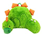 Sweet Seats Body Cushion Dinosaur Plush Character Pillow, Green/Orange, 14'' x 26'' x 16''