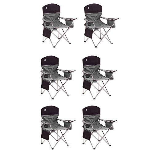 Coleman 6 Camping Oversized Quad Chairs w Cooler