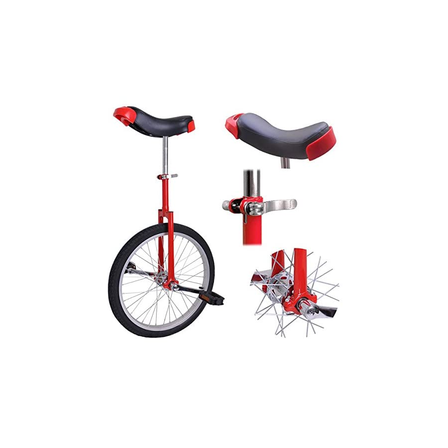 20 inch Wheel Unicycle Red
