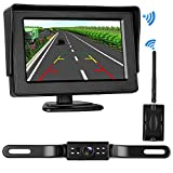 LeeKooLuu Digital Wireless Backup Camera&Monitor System for RV/Car/Trailer/Pickup/Truck No Interference Rear View Camera/Front View Camera Continuous/Reverse Waterproof Night Vision Guide Lines ON/OFF