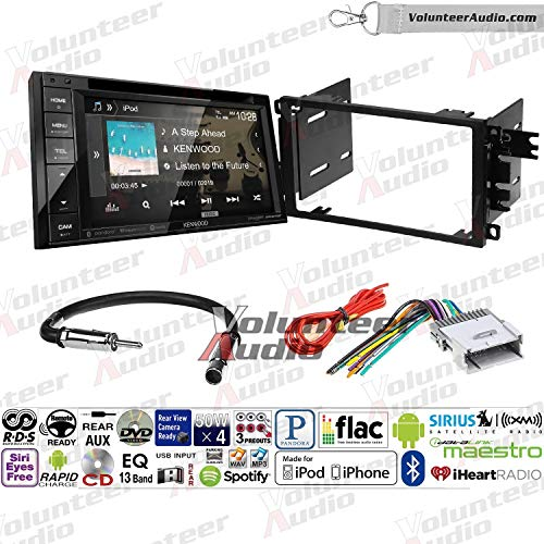 Cavalier Radio Install - Volunteer Audio Kenwood DDX276BT Double Din Radio Install Kit with Bluetooth, Sirius XM Ready, Touchscreen Fits 2003-2005 Chevrolet Blazer, 2003-2006 Silverado, 2003-2006 Suburban