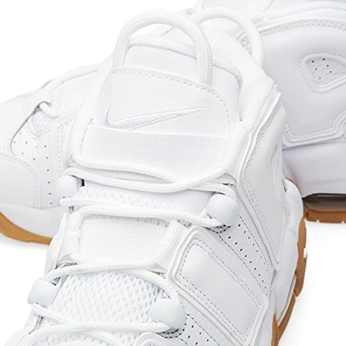 Nike Air Uptempo GS Big Kids Basketballschuhe Weiß / Tief Royalblau Weiß / Weiß / Bmb / Gm Länge Brwn