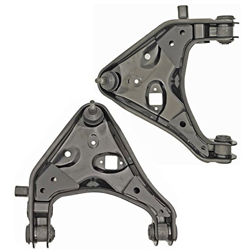 - Detroit Axle - Both (2) Brand New Front Lower Driver & Passenger Side Control Arm and Ball Joint Assembly for Torsion Bar Suspension ONLY