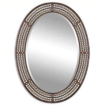 Uttermost Matney Mirror 1.25 x 24 x 34, Bronze, 34.0 L x 24.0 W x 1.3 D,