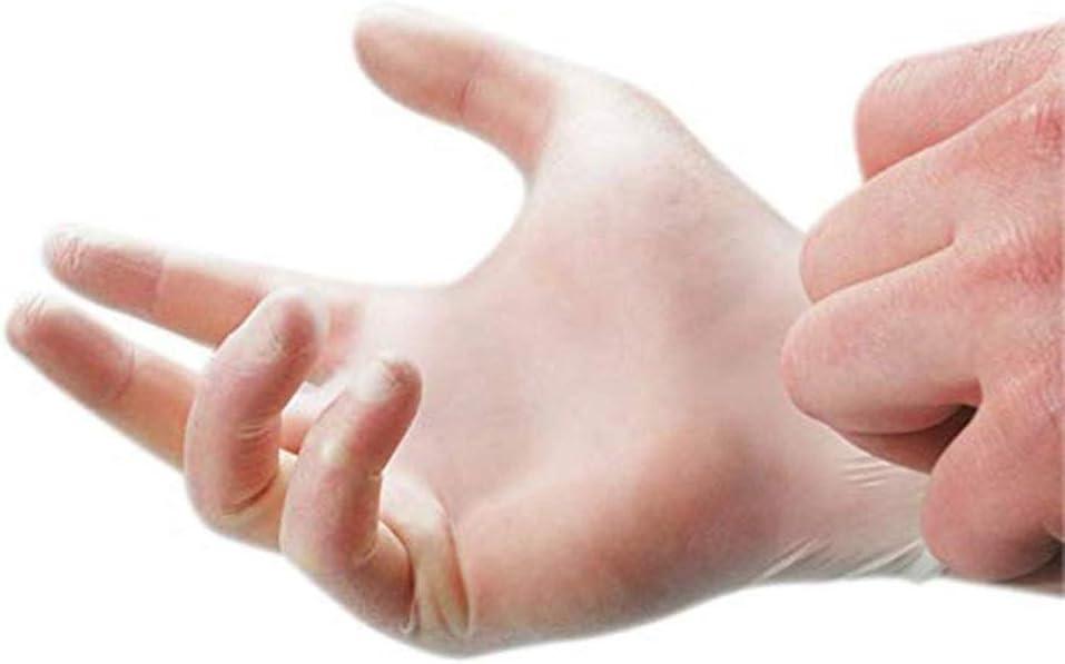 couleur transparente 100 paires appropri/é au nettoyage m/édical et m/énager, /à la production alimentaire Caoutchouc de gant jetable de nettoyage taille : Grand