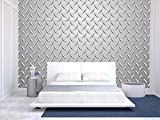 wall26 - Metal Texture Background - Removable Wall Mural | Self-adhesive Large Wallpaper - 100x144 inches
