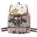 target backpack purse - Monique Girls Women Owl Print Canvas Backpack Drawstring Bag Students Schoolbag Casual Daypack Outdoor Travel Shoulder Bag