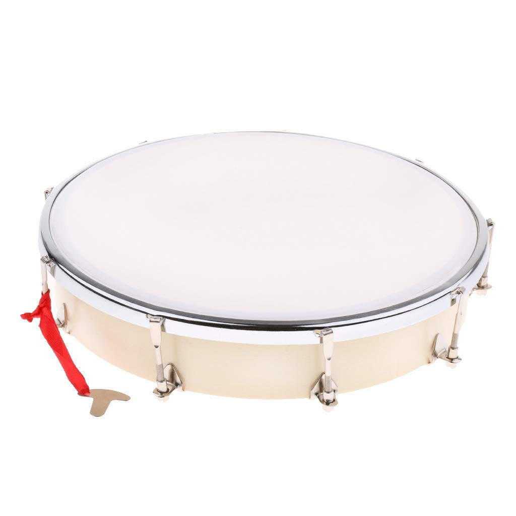 Exquisite 8inch Wood Handheld Drum Hand Percussion Instrument Tambourine
