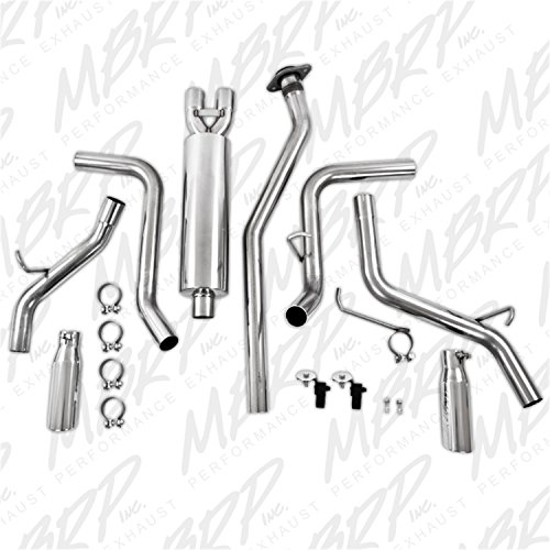 MBRP S5018409 T409-Stainless Steel Dual Split Side Cat Back Exhaust System