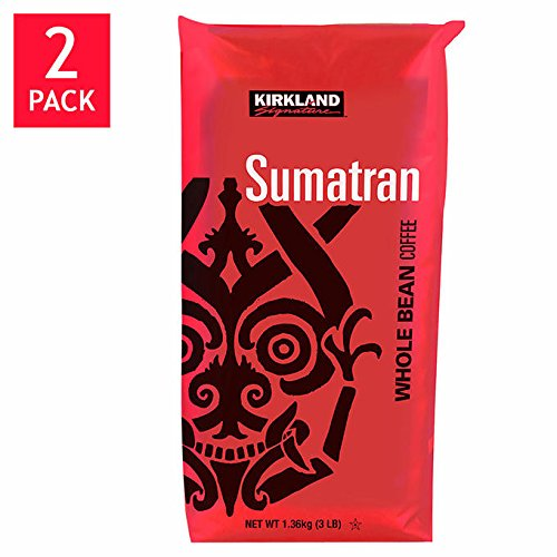 B00I5JPS0K Kirkland Signature Sumatra Whole Bean Coffee 2-3lb Bags 51XJv1MsFEL