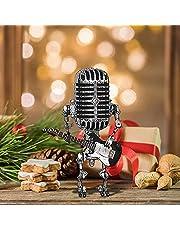 Vintage microfoon robotlamp gitaar, microfoon robotlamp gitaar, vintage microfoon robot USB opladen lamp tafellamp