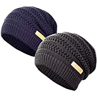 2-Pack Cxgclub Winter Warm Ultrafine Knit Fleece Beanie Hat