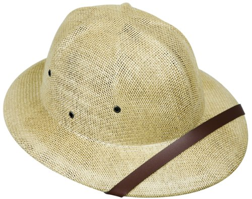 Adult's Tan Safari Pith Helmet Costume (Safari Costume Halloween)