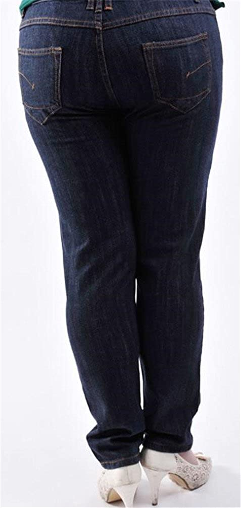 Skinny Jeans for Women,Juniors Jeans Plus Size Dark Blue Distressed Stretch Boyfriend Ankle Denim Pants