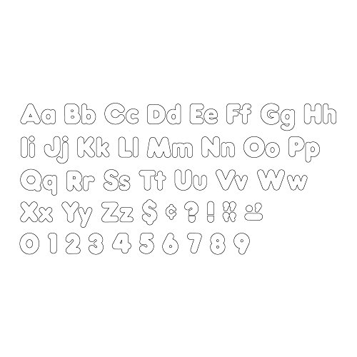 Trend Enterprises White 4-Inch Casual Uppercase/Lowercase Combo Pack Ready Letters (T-79905) Photo #3