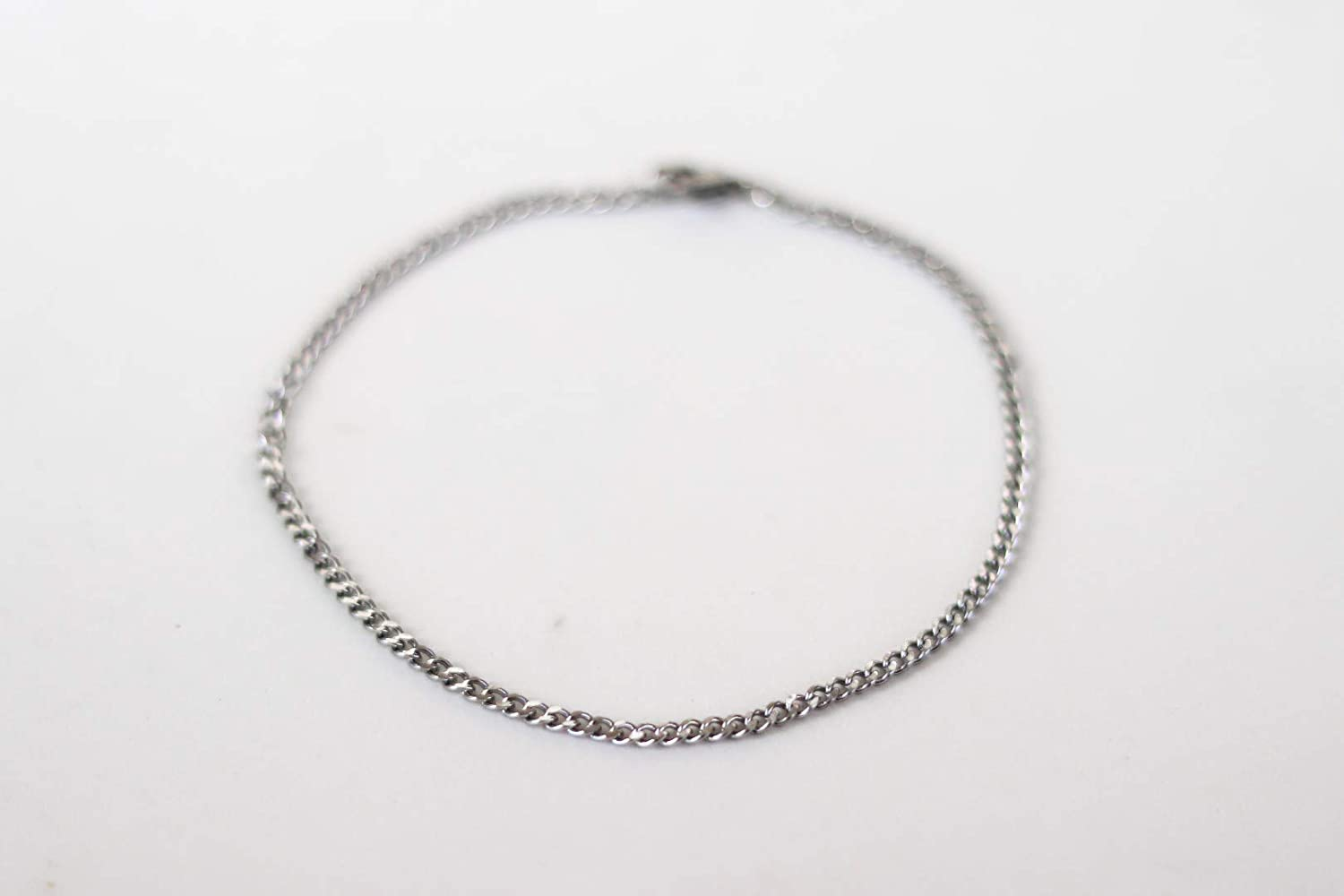 minimalist anklet mens jewelry mans ankle bracelet Anklet for men gift for him Silver links chain anklet cable cuban chain
