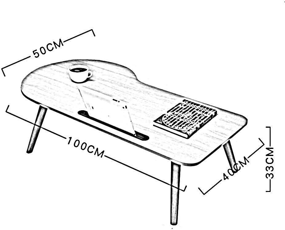 Size : 904834CM Laptop Table Table Computer Workstations Laptop Desk Solid Wood Bed Display Stand Foldable with Card Slot Side