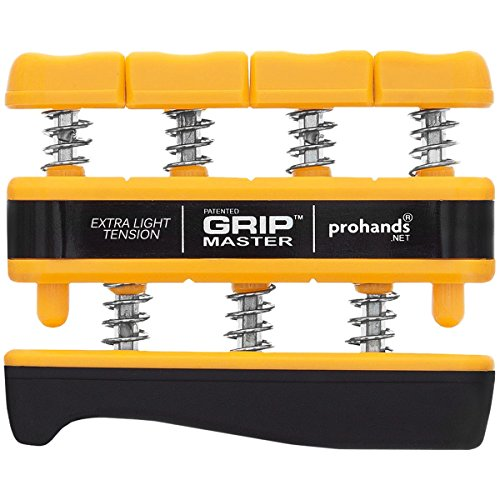 Gripmaster Hand Exerciser Yellow, X-Light Tension (3-Pounds per Finger) by GRIP MASTER (Image #1)